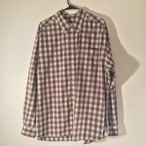 💰🎉Eddie Bauer long sleeve plaid XL dress shirt